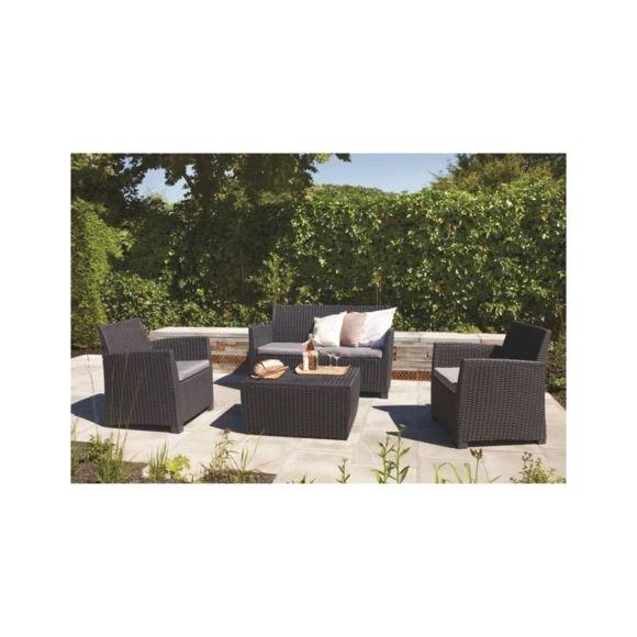 salon de jardin en resine imitation rotin pas cher jardin piscine et cabane. Black Bedroom Furniture Sets. Home Design Ideas