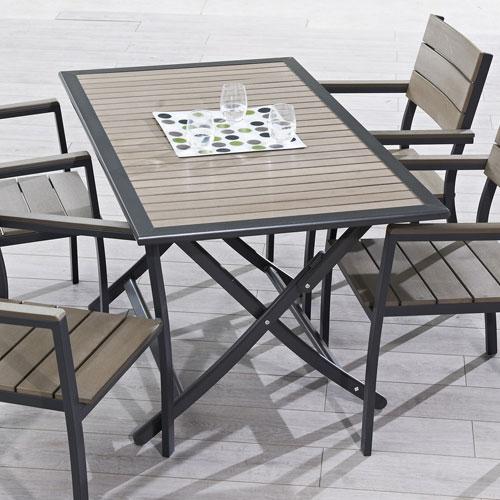 Mobilier de jardin table pliante