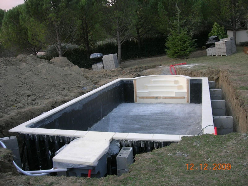 Temps construction piscine desjoyaux jardin piscine et cabane - Cout piscine desjoyaux ...