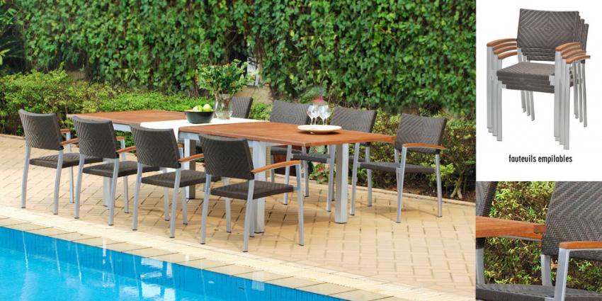 Salon de jardin aluminium oogarden - Jardin piscine et Cabane