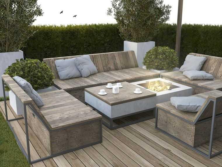 salon terrasse exterieur jardin piscine et cabane. Black Bedroom Furniture Sets. Home Design Ideas