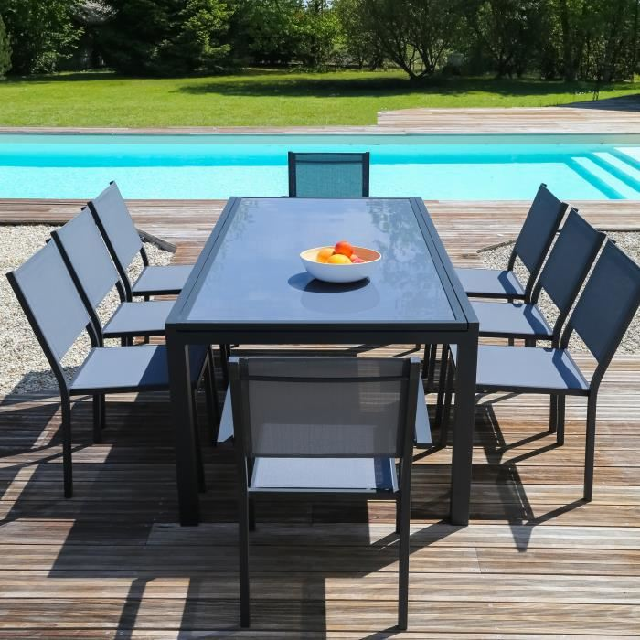 Mobilier de jardin table extensible