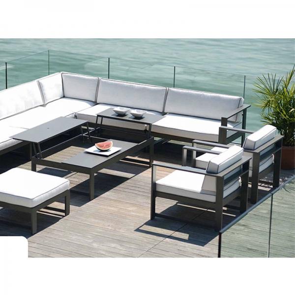Salon de jardin aluminium modulable - Jardin piscine et Cabane