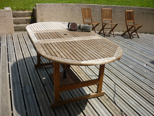 Renover salon de jardin bois exotique - Jardin piscine et Cabane