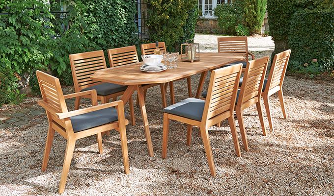 Salon de jardin bois truffaut