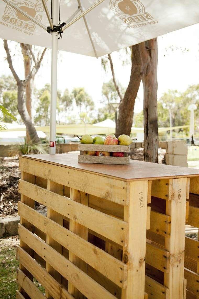 Petit salon de jardin palette - Jardin piscine et Cabane