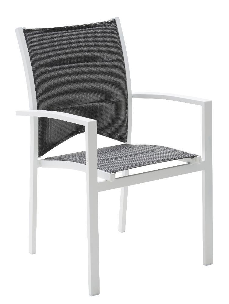 Chaise salon de jardin aluminium - Jardin piscine et Cabane