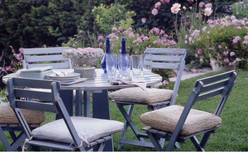 Stunning Salon De Jardin En Bois Bleu Gallery - House Design ...