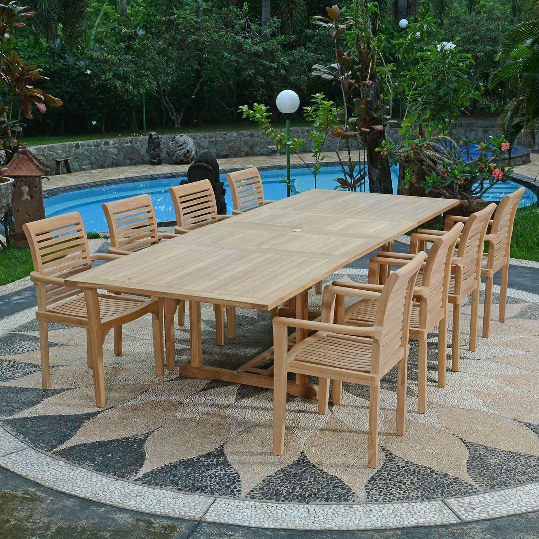Salon de jardin teck gamm vert - Jardin piscine et Cabane