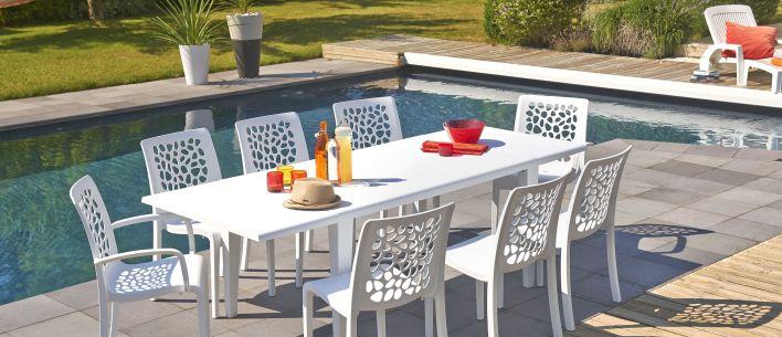 Table Jardin Anthracite. Table De Jardin Table De Jardin Vega Avec ...