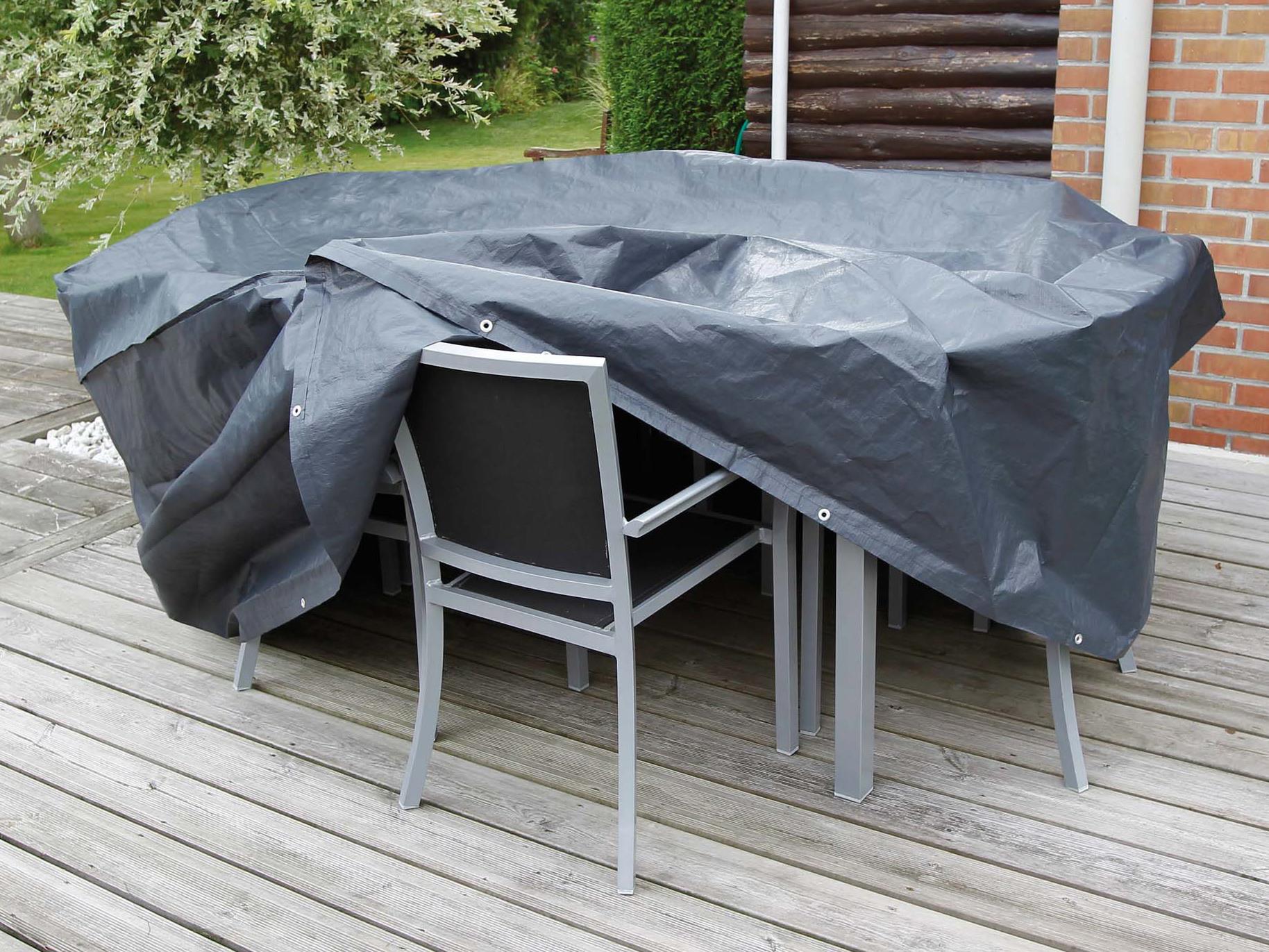 Housse pour salon de jardin ovale ou rectangulaire campingaz ...