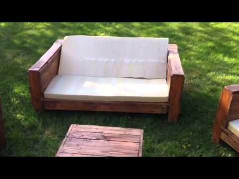 Salon de jardin palette en bois tuto - Jardin piscine et Cabane