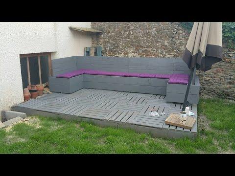 fabriquer un salon de jardin en palette jardin piscine et cabane. Black Bedroom Furniture Sets. Home Design Ideas