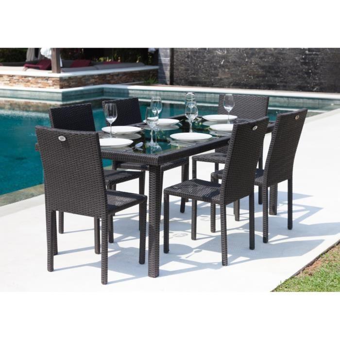 Table et chaise de jardin pas cher en resine