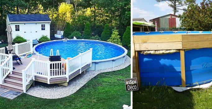 idee de jardin avec piscine hors sol
