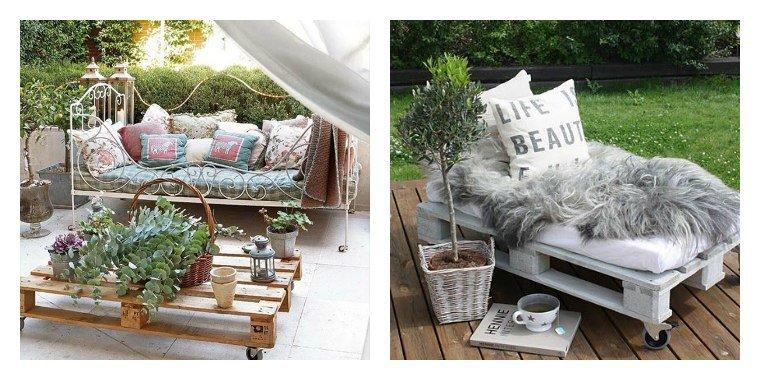 Mousse pour salon de jardin en palette