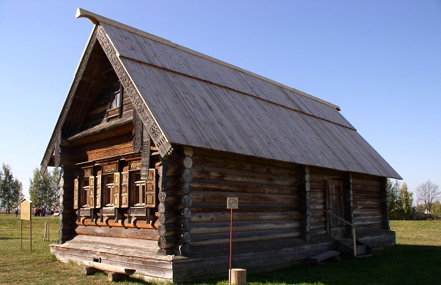 Cabane en bois russe
