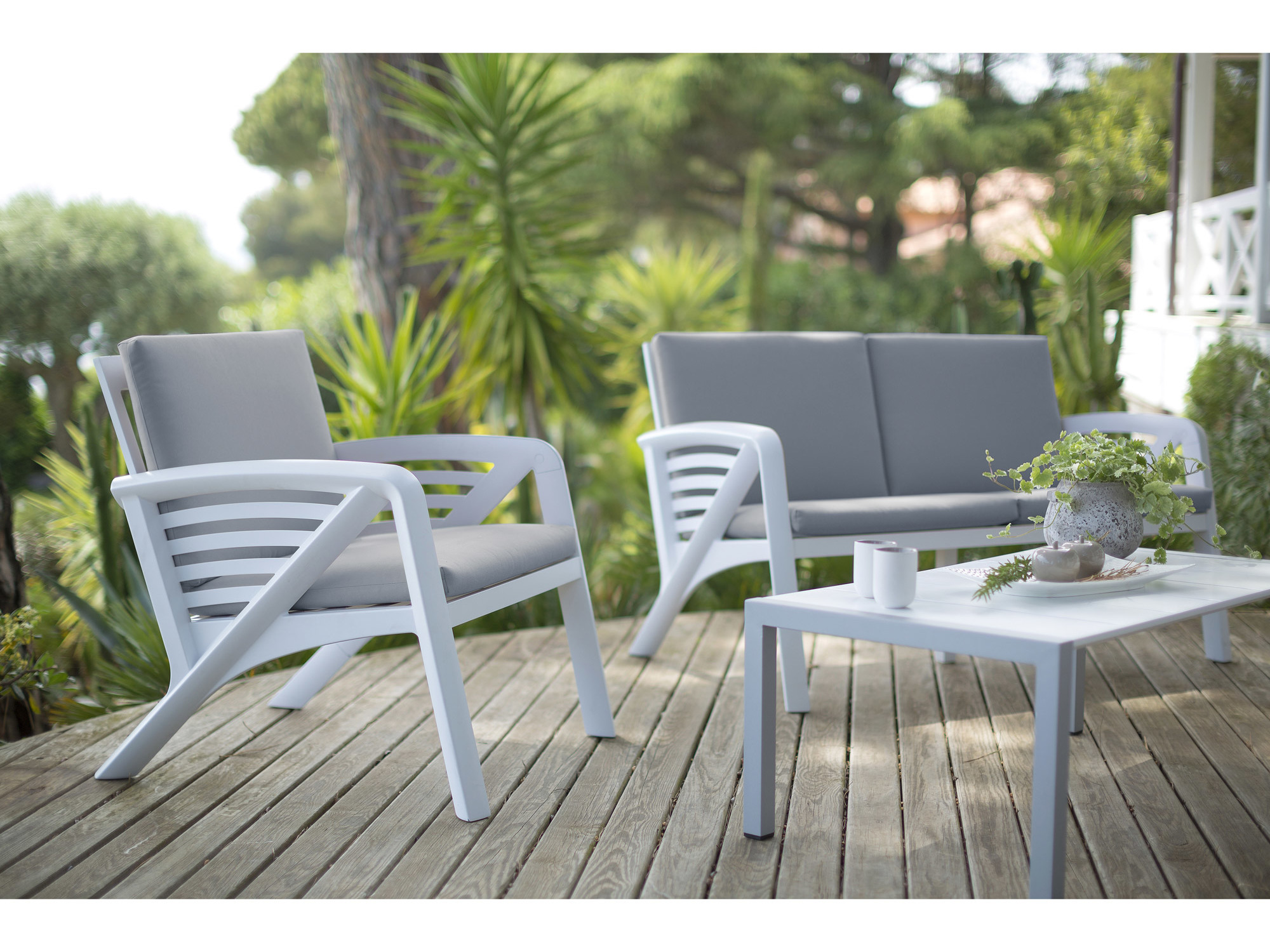 Destockage salon de jardin aluminium