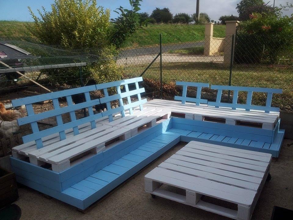 Salon de jardin en palette mode d\'emploi - Jardin piscine et Cabane