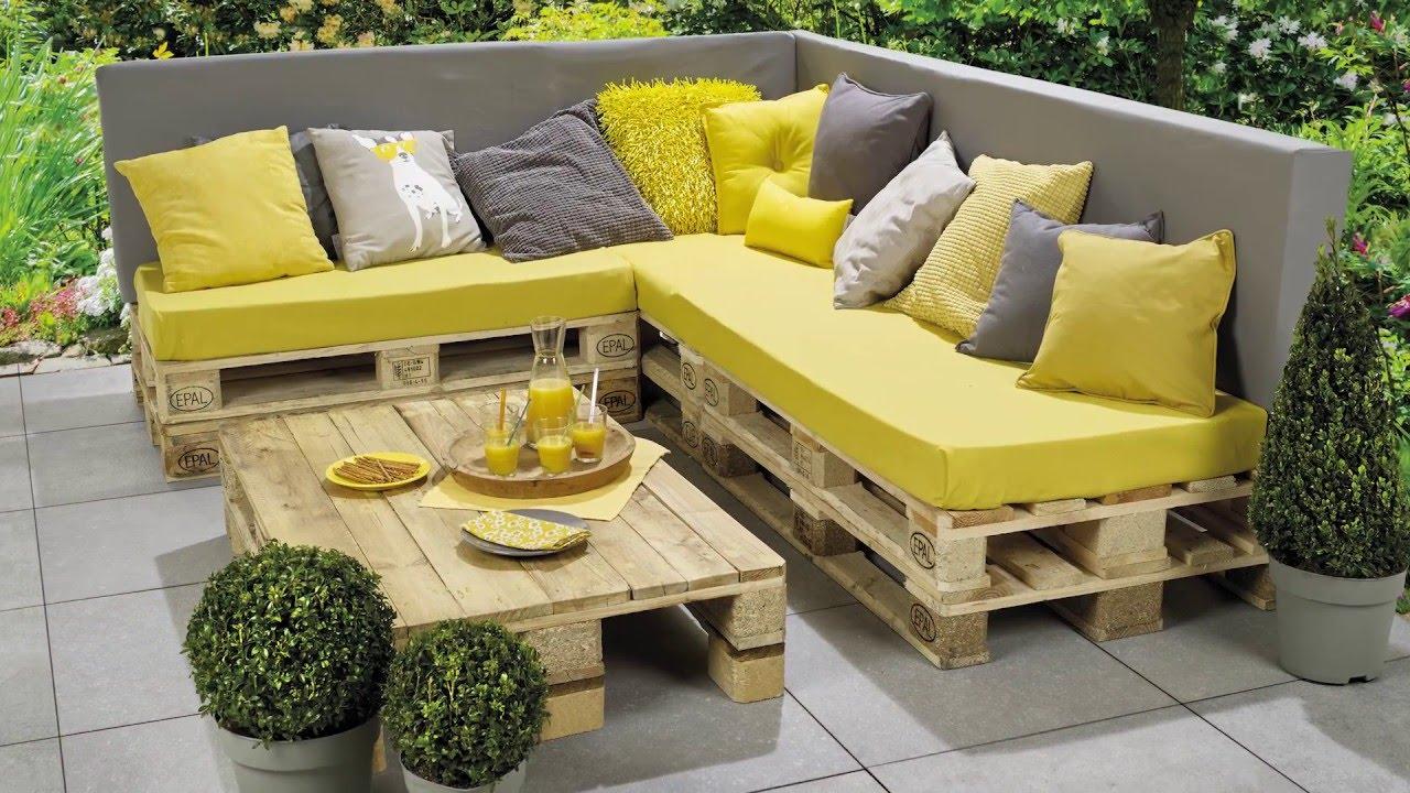 Tuto pour salon de jardin en palette - Jardin piscine et Cabane