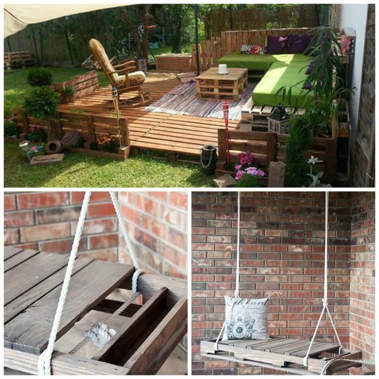 Salon de jardin en palette fait maison