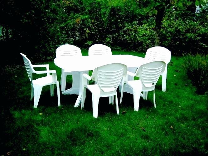 Salon de jardin pvc blanc