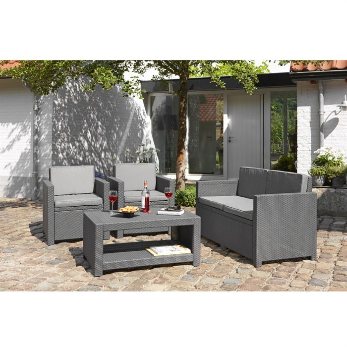 Awesome Salon De Jardin Tresse Gris Anthracite Pictures - House ...