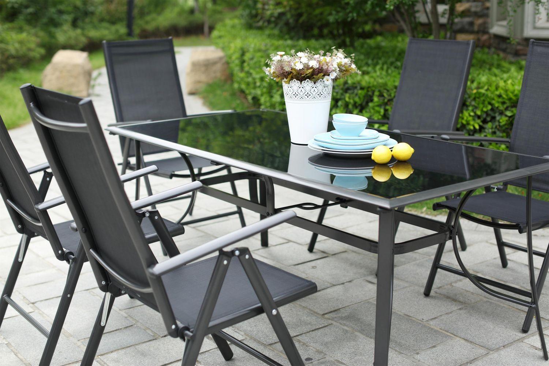 Table et chaises de salon de jardin