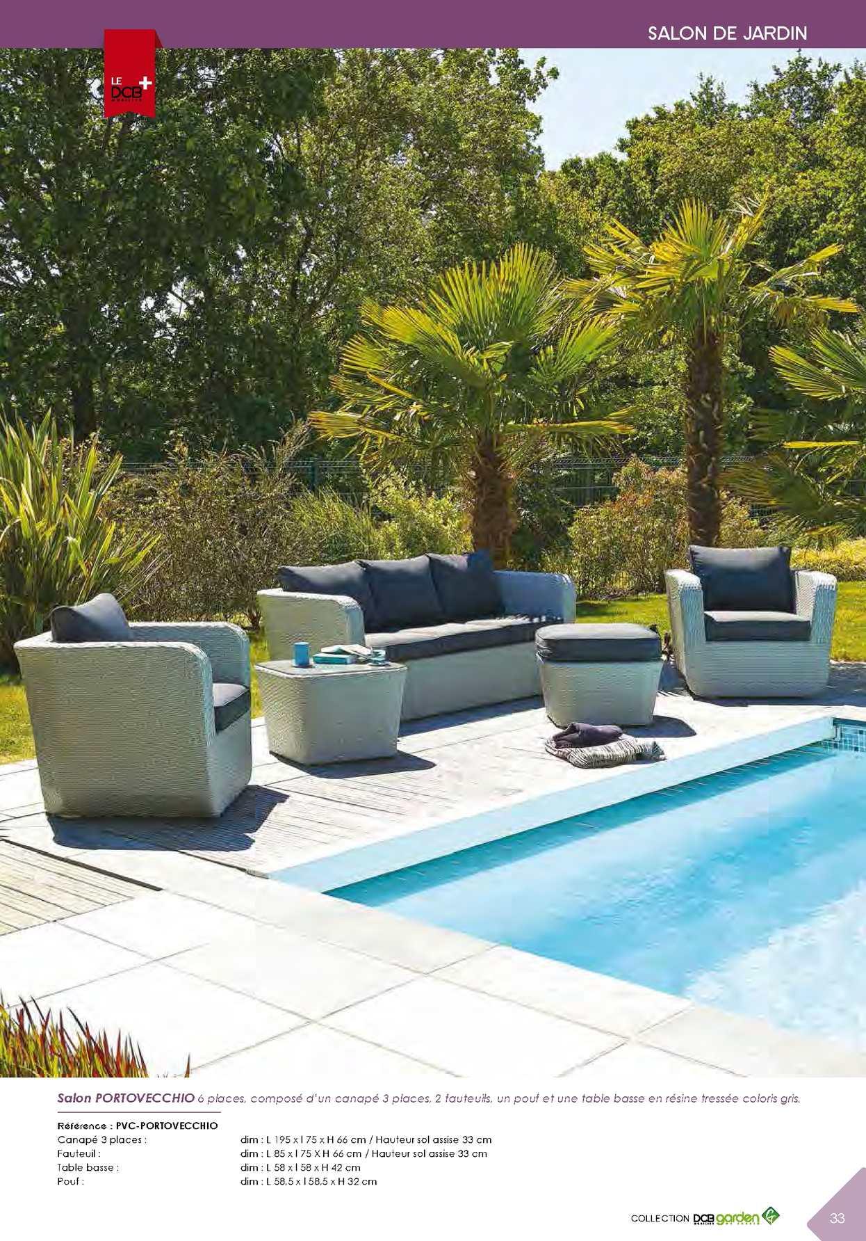 Salon de jardin portovecchio dcb garden - Jardin piscine et Cabane