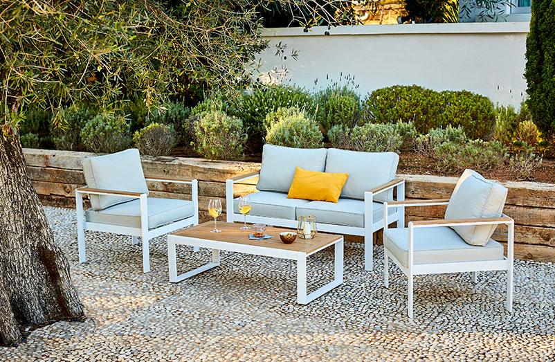 Petit salon de jardin pvc - Jardin piscine et Cabane