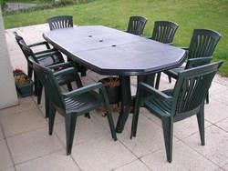 Table et chaise de jardin en résine tressée pas cher - Jardin ...