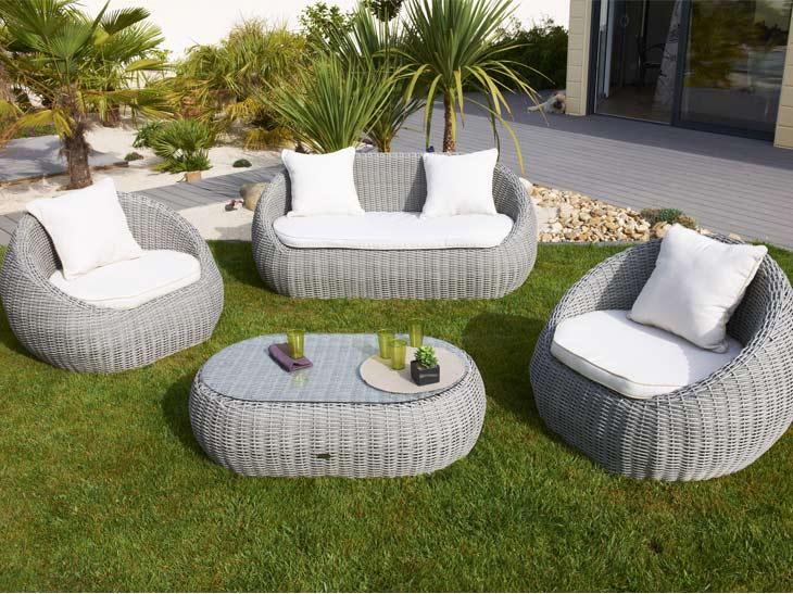 Salon de jardin rotin discount - Jardin piscine et Cabane