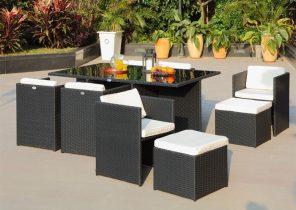 Salon de jardin 4 places en acacia - Jardin piscine et Cabane