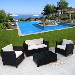 Promo salon de jardin résine tressée leclerc - Jardin piscine et Cabane