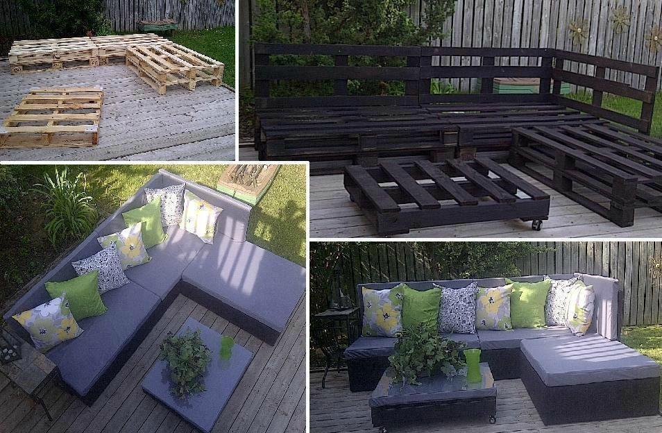 Beau Salon De Jardin En Palette Jardin Piscine Et Cabane