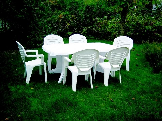 Salon de jardin pas cher en plastique leclerc - Jardin piscine et Cabane