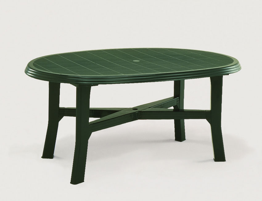 Table salon de jardin en pvc