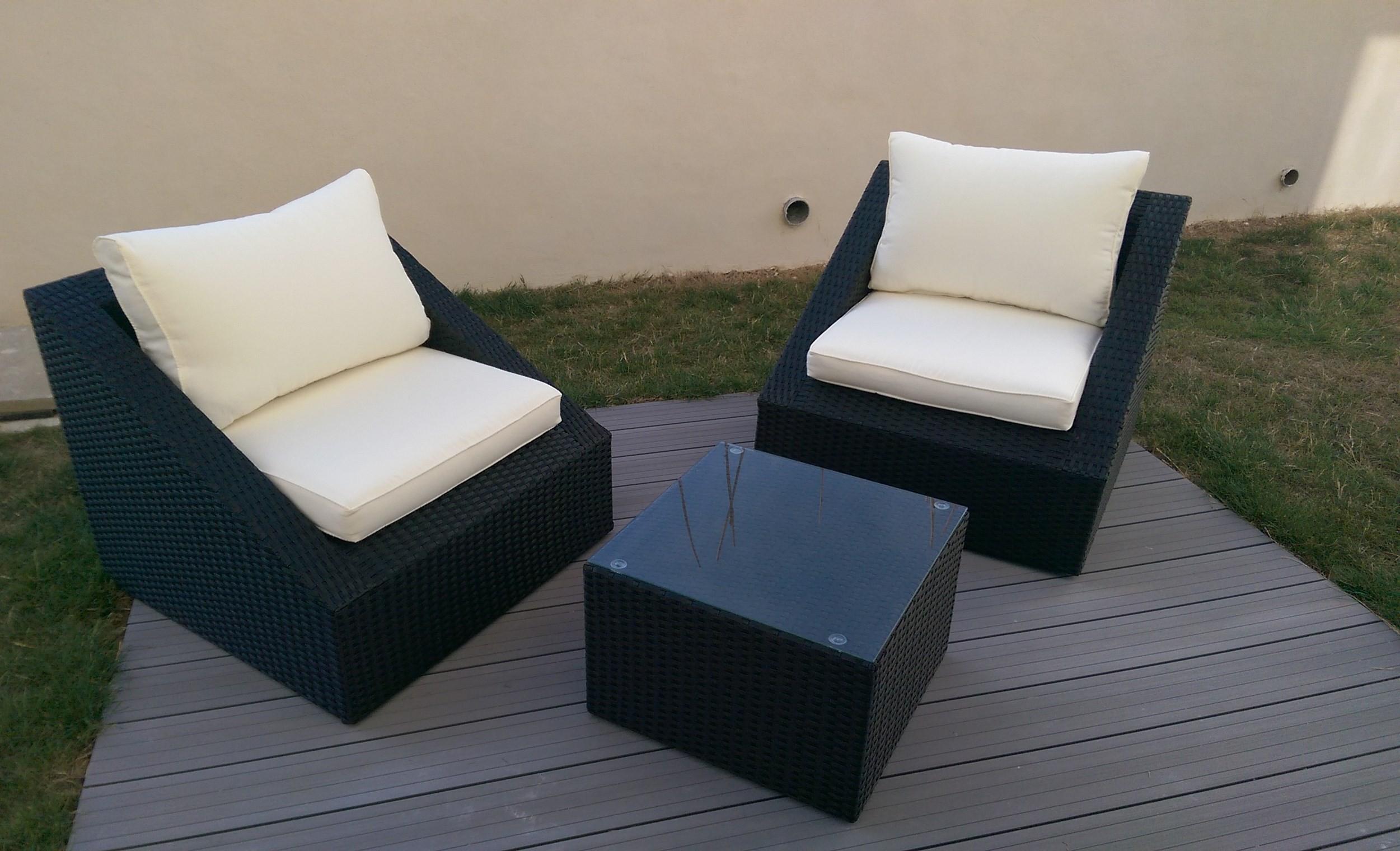 Table basse de salon de jardin pas cher