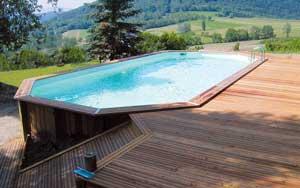 Construction piscine bois enterrée