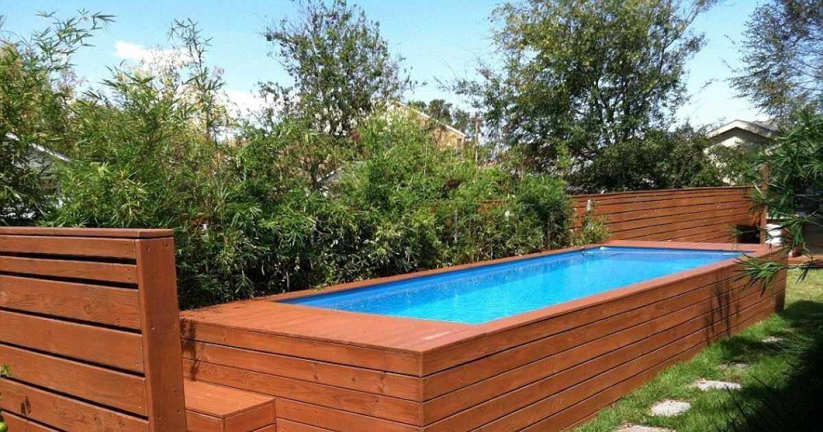 construire sa piscine avec des palettes  jardin piscine