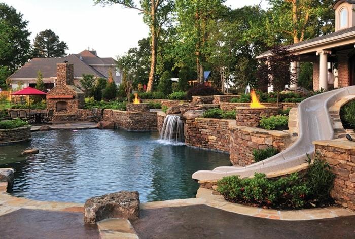 piscine et jardin de reve jardin piscine et cabane. Black Bedroom Furniture Sets. Home Design Ideas