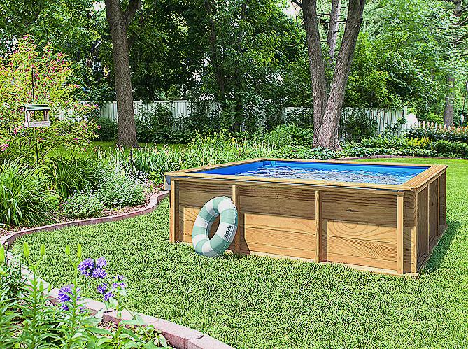 Petit jardin piscine bois jardin piscine et cabane - Piscine pour petit jardin ...