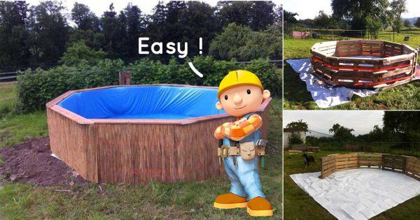 Construire Une Piscine Soi Meme En Palette Jardin Piscine Et Cabane - Construire une piscine en bois sois meme