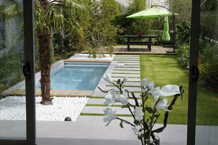 Deco petit jardin piscine jardin piscine et cabane - Piscine pour petit jardin ...