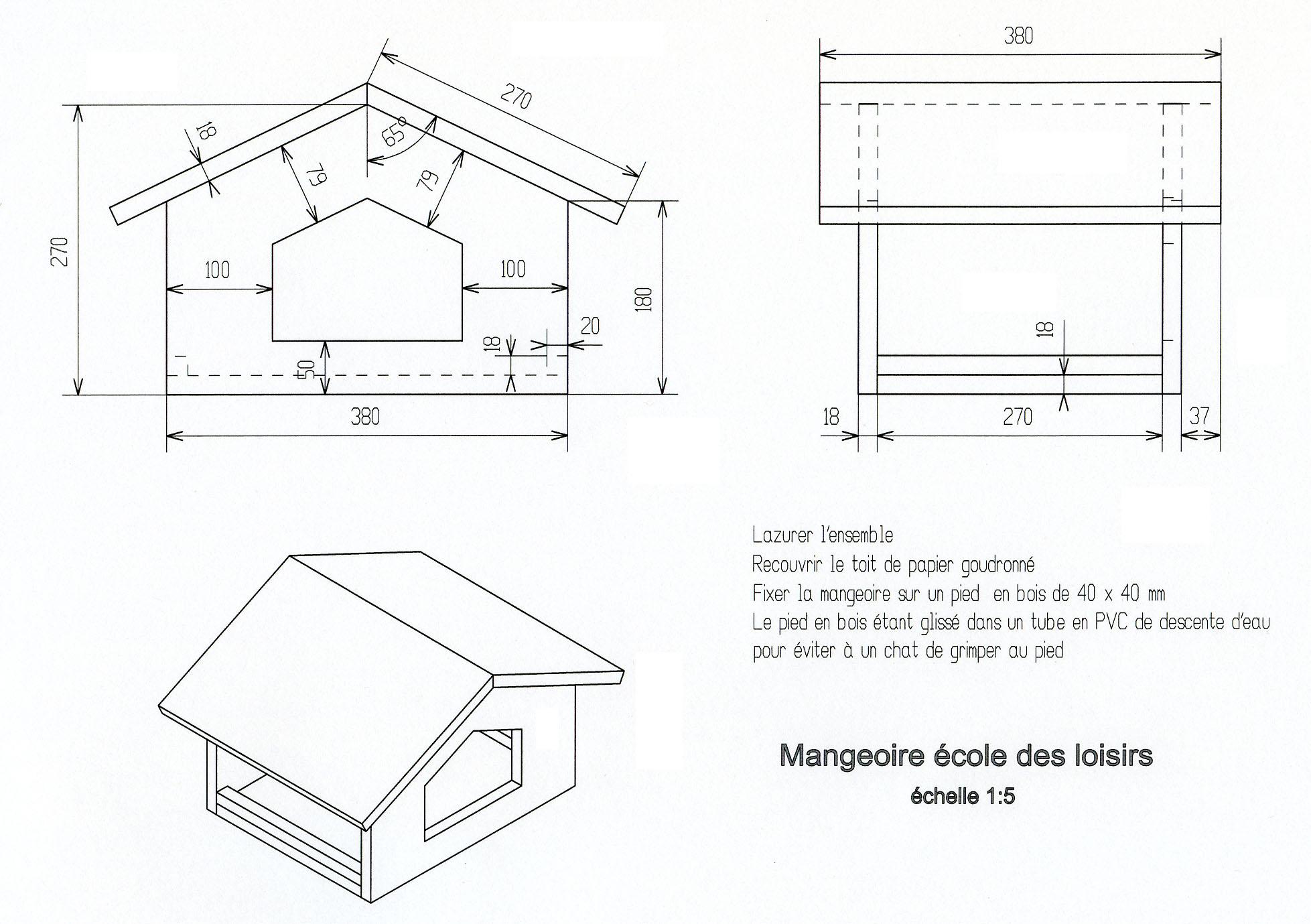 cabane oiseaux plan jardin piscine et cabane. Black Bedroom Furniture Sets. Home Design Ideas