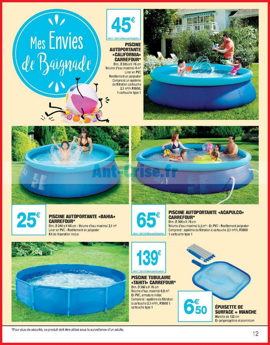 Piscine gonflable carrefour california