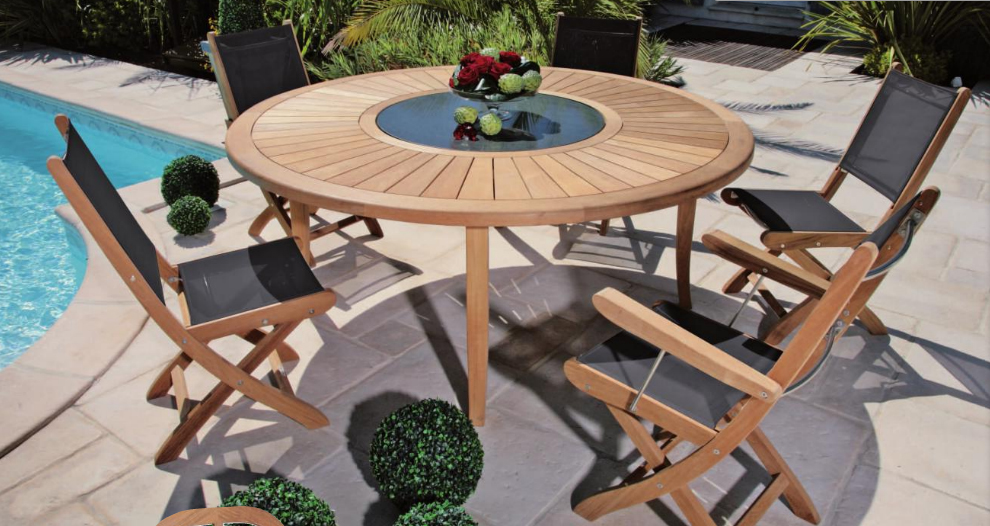 Salon de jardin table ronde 4 personnes