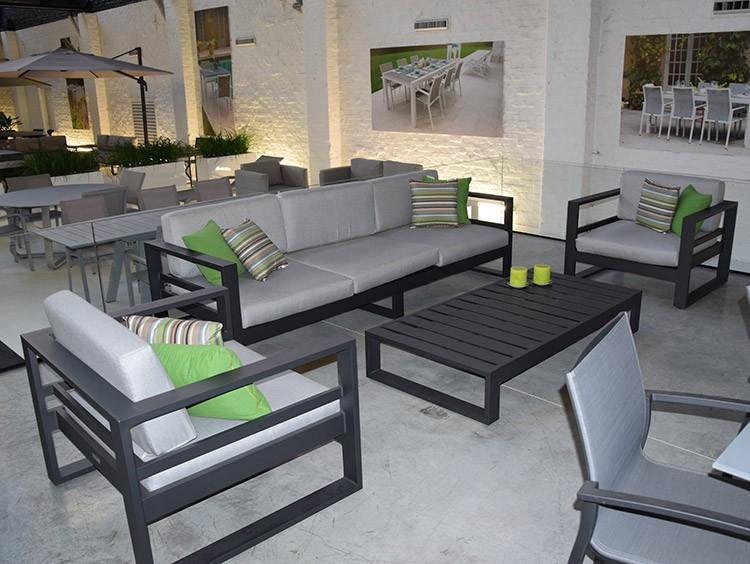 Salon de jardin aluminium canapé - Jardin piscine et Cabane