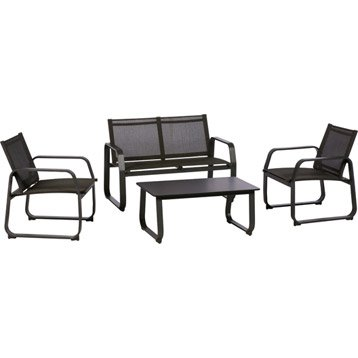 Salon de jardin luxe aluminium 4 places manhattan