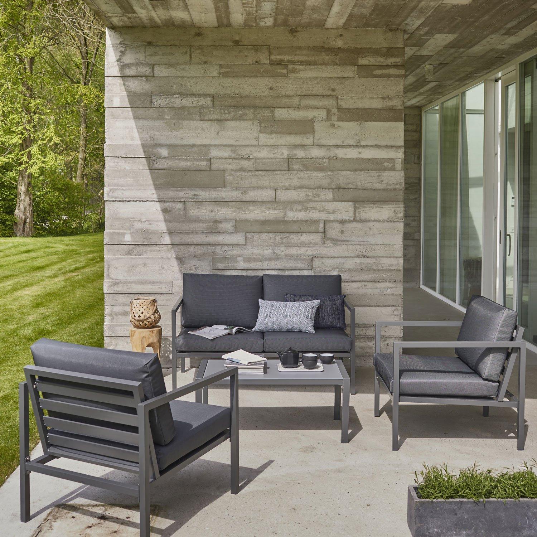 Salon de jardin aluminium soldes - Jardin piscine et Cabane